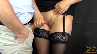 21 CUMshot on Legs Nylon Compilation in stockings/pantyhose-SanyAny Handjob