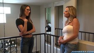 Step Mother teaches Handjobs with Jodi West and Dava Foxx