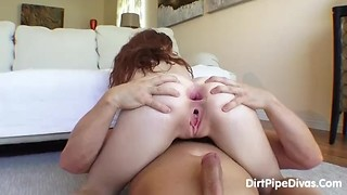 gorgeous redhead anal gape