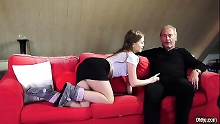 Older Juvenile Porn Little Cutie Drilled By Hairless Grandad in her moist consummate cunt