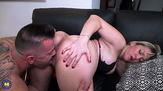 Dirty moms get rough sex from sons