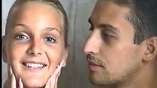 Blonde European babe sucks and fucks in homemade porno