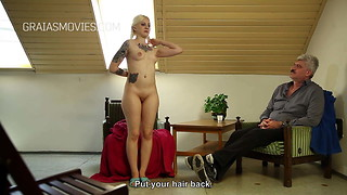 Blonde servant girl receives strict discipline