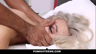 PunishTeens - Super Hot Teen Strapped Up &amp_ Slapped Around