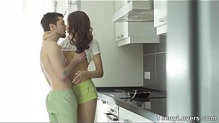 Teeny Lovers - Anal dessert Rebeca Taylor in a kitchen